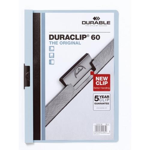 Klemmmappe Duraclip60 A4 bis 60Blatt blau Hartfolie Durable 2209-06 Produktbild