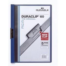 Klemmmappe Duraclip60 A4 bis 60Blatt dunkelblau Hartfolie Durable 2209-07 Produktbild