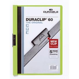 Klemmmappe Duraclip60 A4 bis 60Blatt grün Hartfolie Durable 2209-05 Produktbild