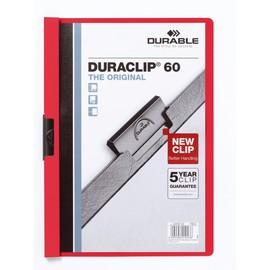Klemmmappe Duraclip60 A4 bis 60Blatt rot Hartfolie Durable 2209-03 Produktbild