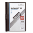 Klemmmappe Duraclip60 A4 bis 60Blatt schwarz Hartfolie Durable 2209-01 Produktbild