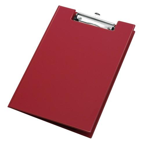 Klemmbrett mit Deckel und Stiftehalter A4 rot PVC Veloflex 4804020 Produktbild Additional View 1 L