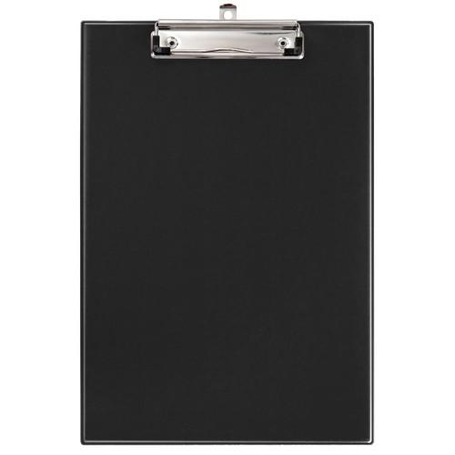 Klemmbrett leicht genarbt A4 schwarz PVC Veloflex 4814080 Produktbild Front View L