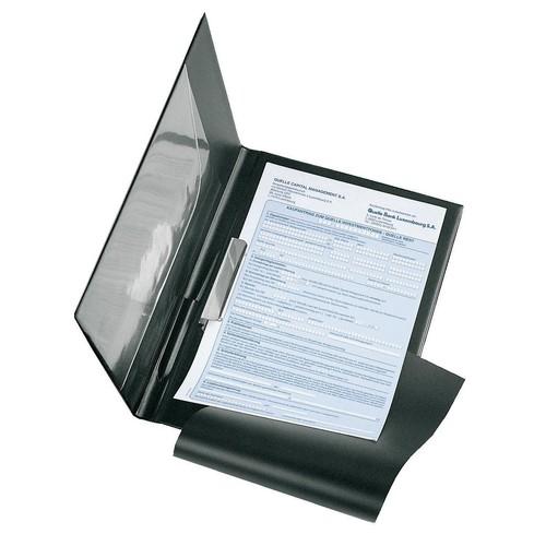 Ordersatzmappe mit Klarsichttasche und Durchschreibschutz A4 schwarz Nappafolie Veloflex 5240080 Produktbild Front View L