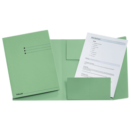 Jurismappe mit 3 Klappen A4 grün Karton Esselte 1033308 Produktbild