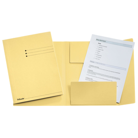 Jurismappe mit 3 Klappen A4 gelb Karton Esselte 1033306 Produktbild