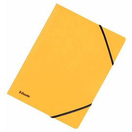 Eckspanner A4 für 250Blatt gelb Karton Esselte 44203 Produktbild