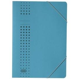 Eckspanner chic A4 für 150Blatt blau Karton Elba 400010053 Produktbild