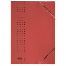 Eckspanner chic A4 für 150Blatt rot Karton Elba 400010059 Produktbild