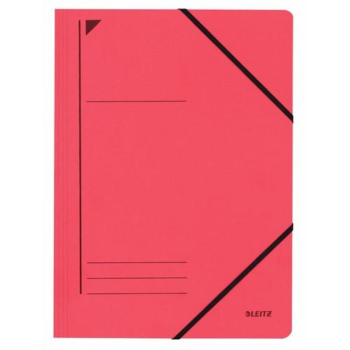 Eckspanner A4 für 250Blatt rot Karton Leitz 3980-00-25 Produktbild Front View L