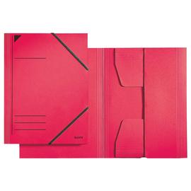 Eckspanner mit 3 Klappen A4 für 250Blatt rot Karton Leitz 3981-00-25 Produktbild