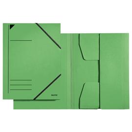 Eckspanner mit 3 Klappen A4 für 250Blatt grün Karton Leitz 3981-00-55 Produktbild