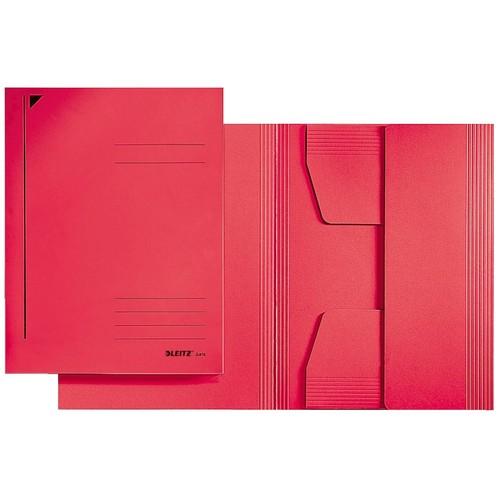 Jurismappe mit 3 Klappen A3 für 250Blatt rot Karton Leitz 3923-00-25 Produktbild Front View L