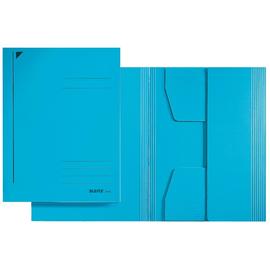 Jurismappe mit 3 Klappen A4 für 250Blatt blau Karton Leitz 3924-00-35 Produktbild