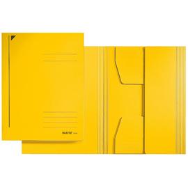 Jurismappe mit 3 Klappen A4 für 250Blatt gelb Karton Leitz 3924-00-15 Produktbild