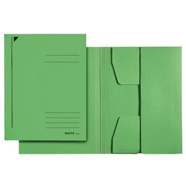 Jurismappe mit 3 Klappen A4 für 250Blatt grün Karton Leitz 3924-00-55 Produktbild