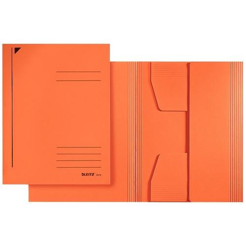 Jurismappe mit 3 Klappen A4 für 250Blatt orange Karton Leitz 3924-00-45 Produktbild Front View L