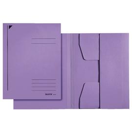 Jurismappe mit 3 Klappen A4 für 250Blatt violett Karton Leitz 3924-00-65 Produktbild