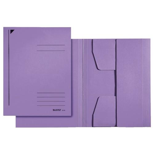 Jurismappe mit 3 Klappen A4 für 250Blatt violett Karton Leitz 3924-00-65 Produktbild Front View L