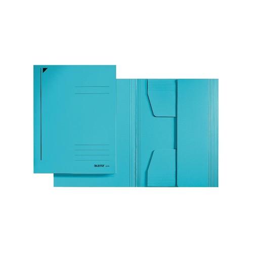 Jurismappe mit 3 Klappen A5 für 250Blatt blau Karton Leitz 3925-00-35 Produktbild