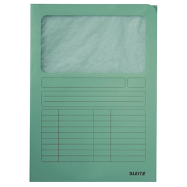 Sichtmappe mit Sichtfenster A4 hellgrün Recycling Leitz 3950-00-50 Produktbild