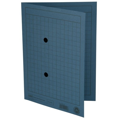 Umlaufmappe mit zwei Sichtlöchern A4 bis 100Blatt blau Karton Elba 100091657 Produktbild