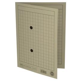 Umlaufmappe mit zwei Sichtlöchern A4 bis 100Blatt grau Karton Elba 100091661 Produktbild