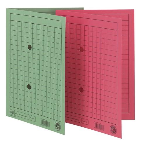 Umlaufmappe mit zwei Sichtlöchern A4 bis 100Blatt rot Karton Elba 100091662 Produktbild Additional View 1 L
