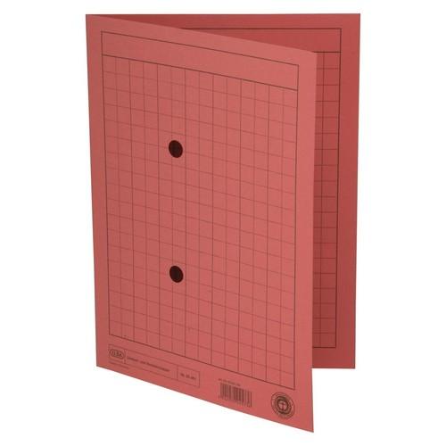 Umlaufmappe mit zwei Sichtlöchern A4 bis 100Blatt rot Karton Elba 100091662 Produktbild