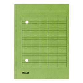 Umlaufmappe mit zwei Sichtlöchern A4 grün Karton Falken 80004195 Produktbild