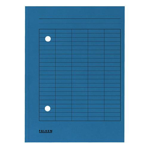 Umlaufmappe mit zwei Sichtlöchern A4 blau Karton Falken 80004179 Produktbild Front View L