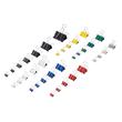 Foldbackklammern 19mm farbig sortiert mit silbernem Bügel Maul 21519-99 (PACK=12 STÜCK) Produktbild Additional View 1 S