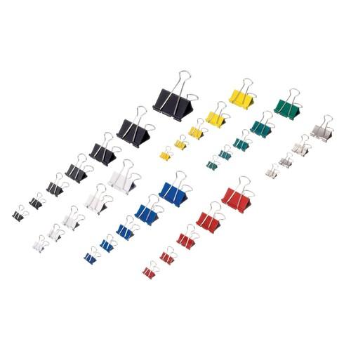 Foldbackklammern 19mm farbig sortiert mit silbernem Bügel Maul 21519-99 (PACK=12 STÜCK) Produktbild Additional View 1 L