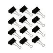 Foldbackklammern 40mm schwarz mit silbernem Bügel (PACK=12 STÜCK) Produktbild