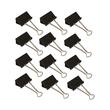 Foldbackklammern 50mm schwarz mit silbernem Bügel (PACK=12 STÜCK) Produktbild