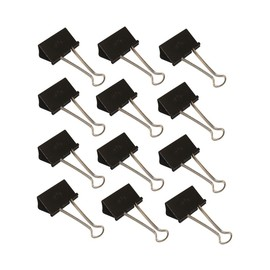 Foldbackklammern 51mm schwarz mit silbernem Bügel WEDO 6421451 (PACK=12 STÜCK) Produktbild