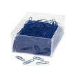 Büroklammern 27mm blau Kunststoff runde Form WEDO 901244603 (DS=1000 STÜCK) Produktbild