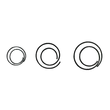 Büroklammern CIRCULAR ø 20mm verzinkt spiralförmig rund ALCO 270 (PACK=50 STÜCK) Produktbild
