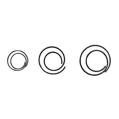 Büroklammern CIRCULAR ø 20mm verzinkt spiralförmig rund ALCO 270 (PACK=50 STÜCK) Produktbild Front View L