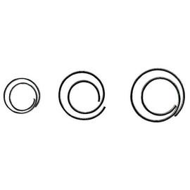 Büroklammern CIRCULAR ø 25mm verzinkt spiralförmig rund ALCO 271 (PACK=25 STÜCK) Produktbild