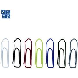 Büroklammern 26mm farbig sortiert metall lackiert eckige Form ALCO 456-26 (DS=100 STÜCK) Produktbild