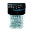Klammernspender rund ø 58x80mm transparent/schwarz gefüllt ALCO 2216 Produktbild