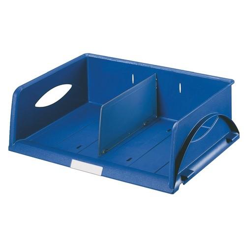 Briefkorb Sorty quer für A4/C4 372x110x270mm blau Kunststoff Leitz 5230-00-35 Produktbild Front View L
