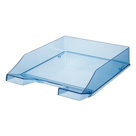 Briefkorb Standard für A4 243x57x335mm blau transparent kunststoff HAN 1026-X-26 Produktbild