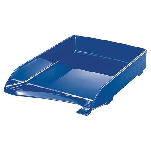 Briefkorb Elegant für A4 244x52x335mm blau kunststoff Leitz 5220-00-35 Produktbild Front View L