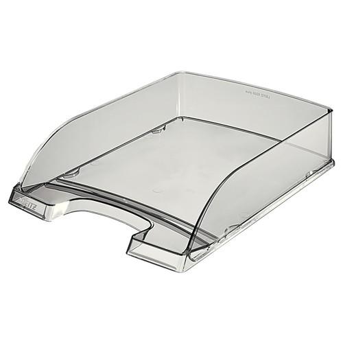 Briefkorb Plus für A4 242x63x340mm grau transparent kunststoff Leitz 5226-00-92 Produktbild Front View L