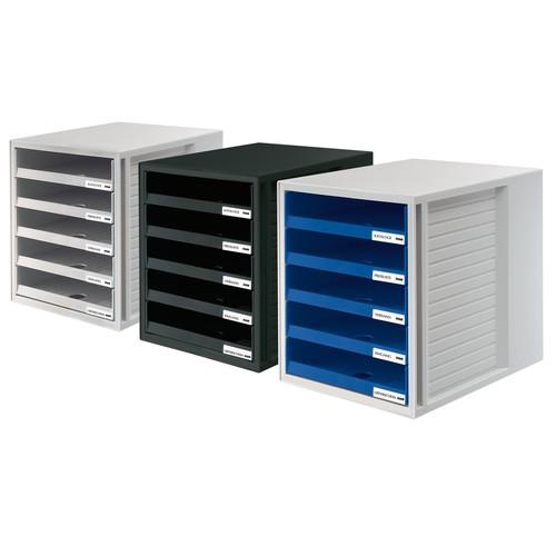 Schubladenbox 5 Schübe offen 275x330x320mm lichtgrau Kunststoff HAN 1401-11 Produktbild Additional View 1 L