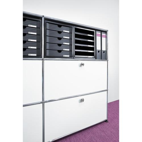Schubladenbox 5 Schübe offen 275x330x320mm lichtgrau Kunststoff HAN 1401-11 Produktbild Additional View 2 L