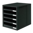 Schubladenbox 5 Schübe offen 275x330x320mm schwarz Kunststoff HAN 1401-13 Produktbild