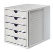 Schubladenbox Systembox 5 Schübe 275x320x330mm lichtgrau Kunststoff HAN 1450-11 Produktbild